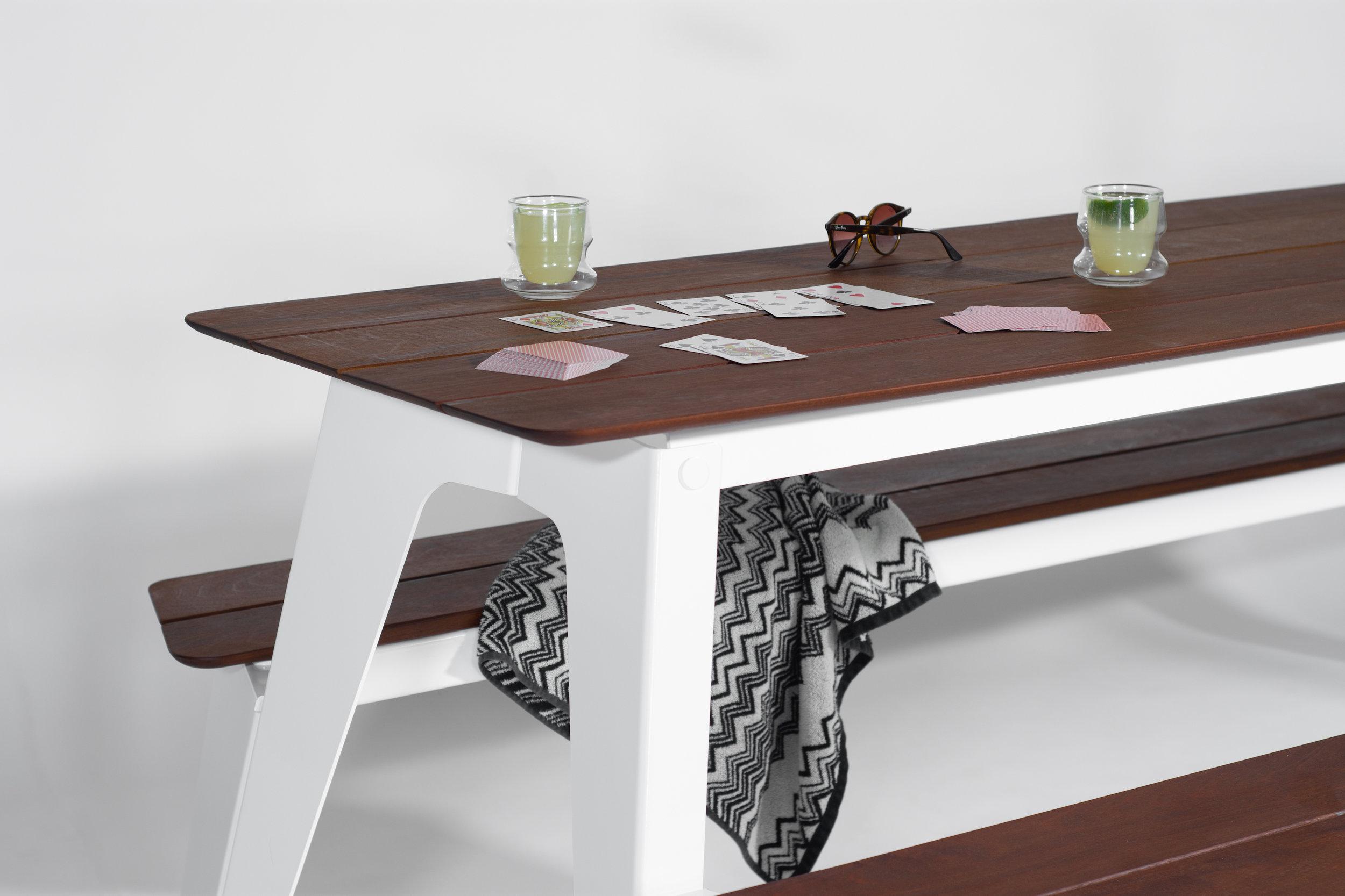 Rambler Picnic Table, Playing Cards and Margaritas
