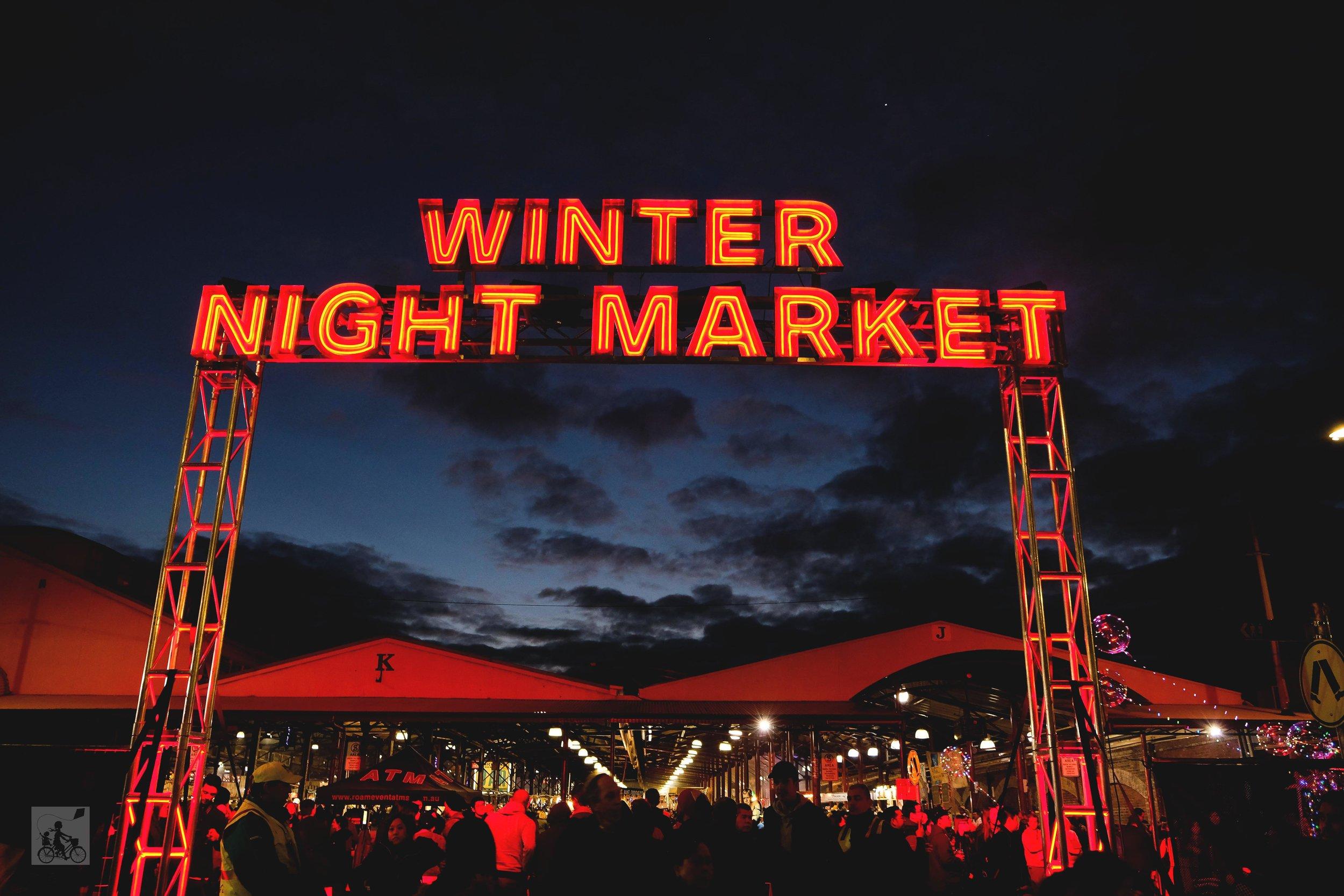 winter night market, qv market - mamma knows north