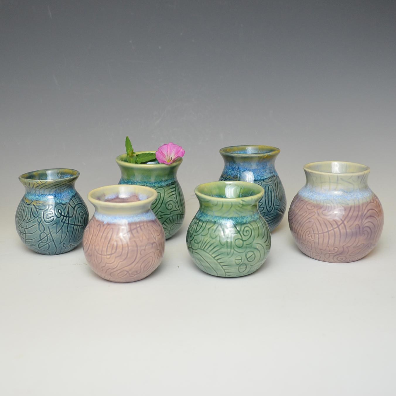 """""""doodle bud vases"""""""