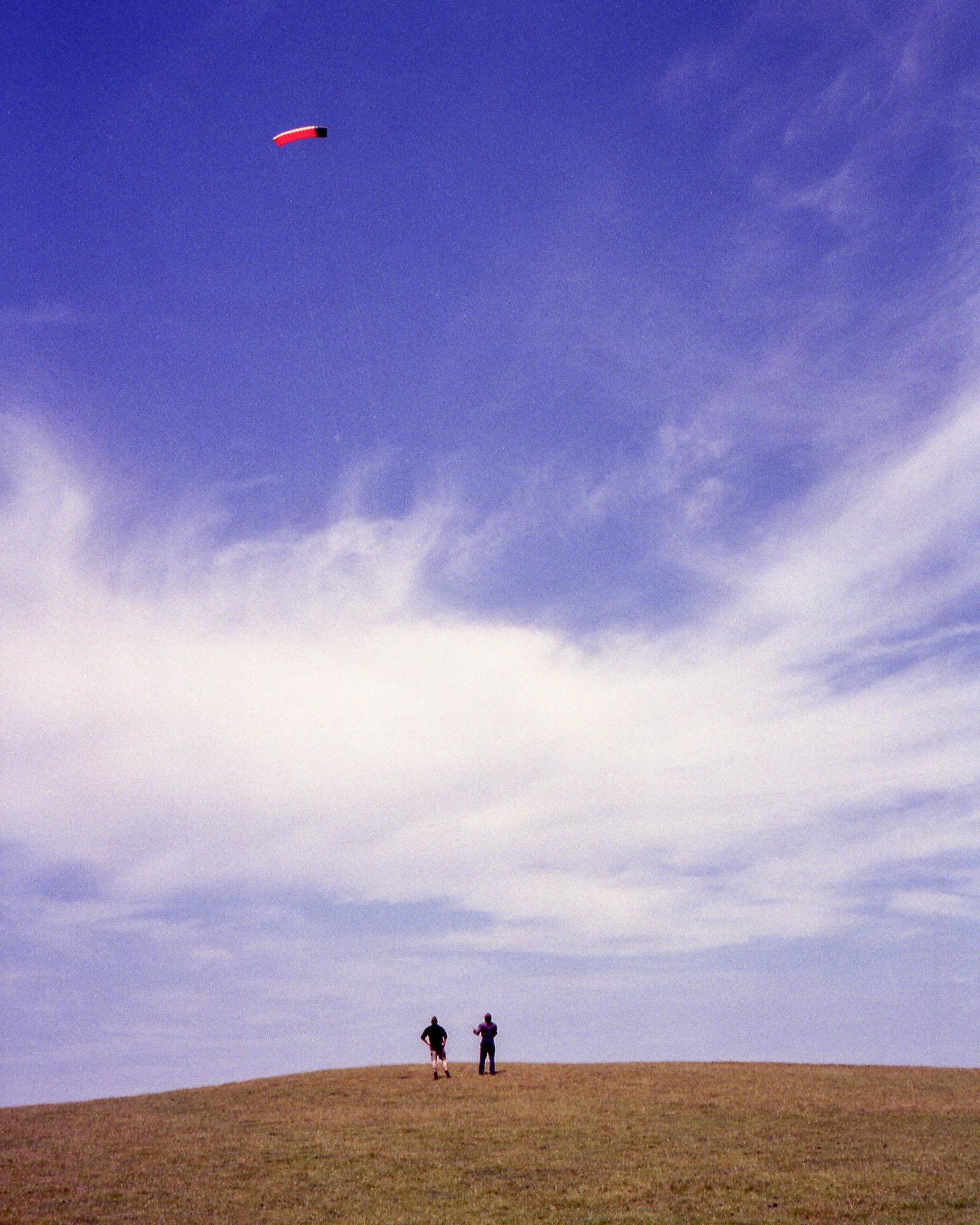 Kite flying in Croyd