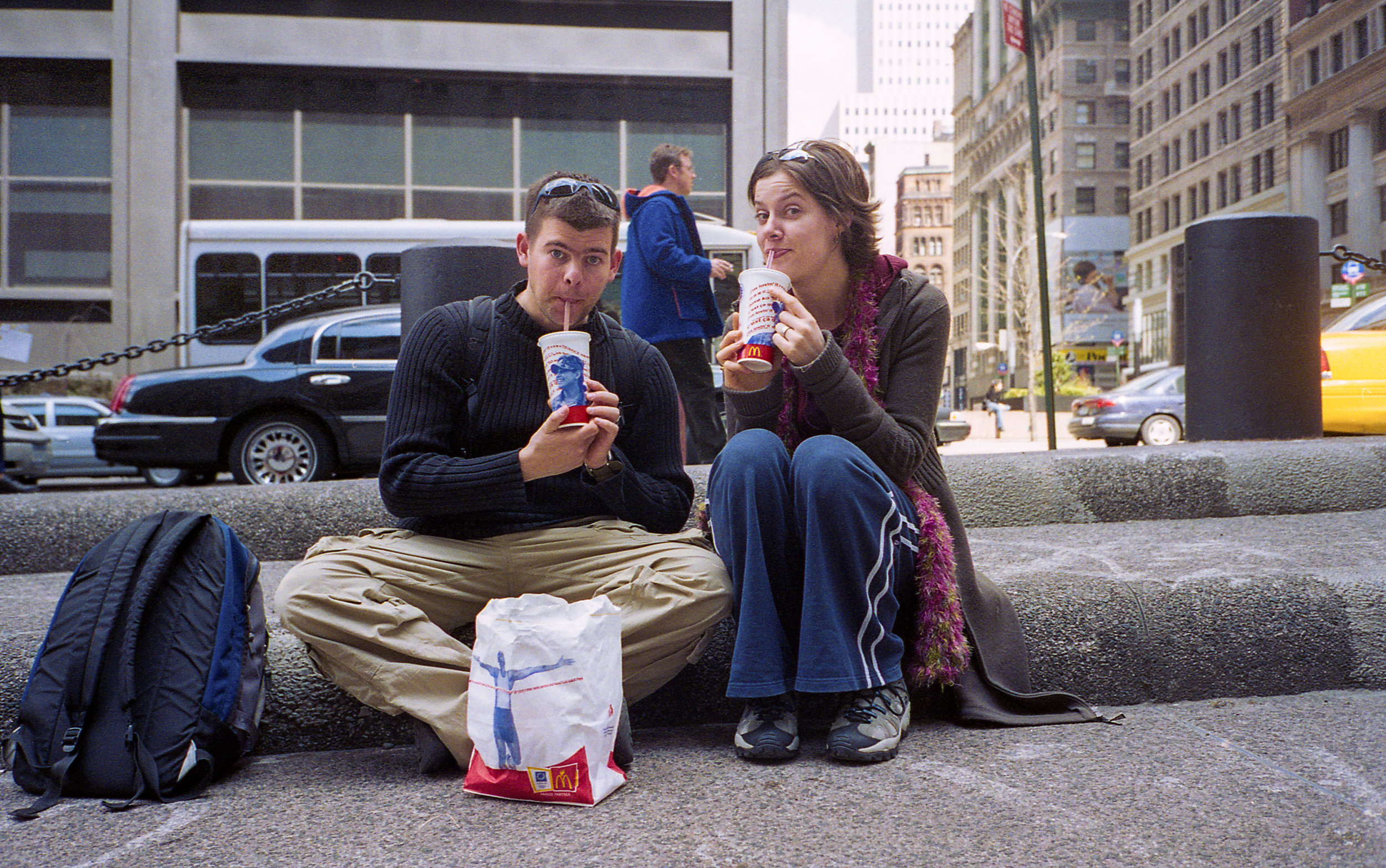 Eating McDonald's like natives