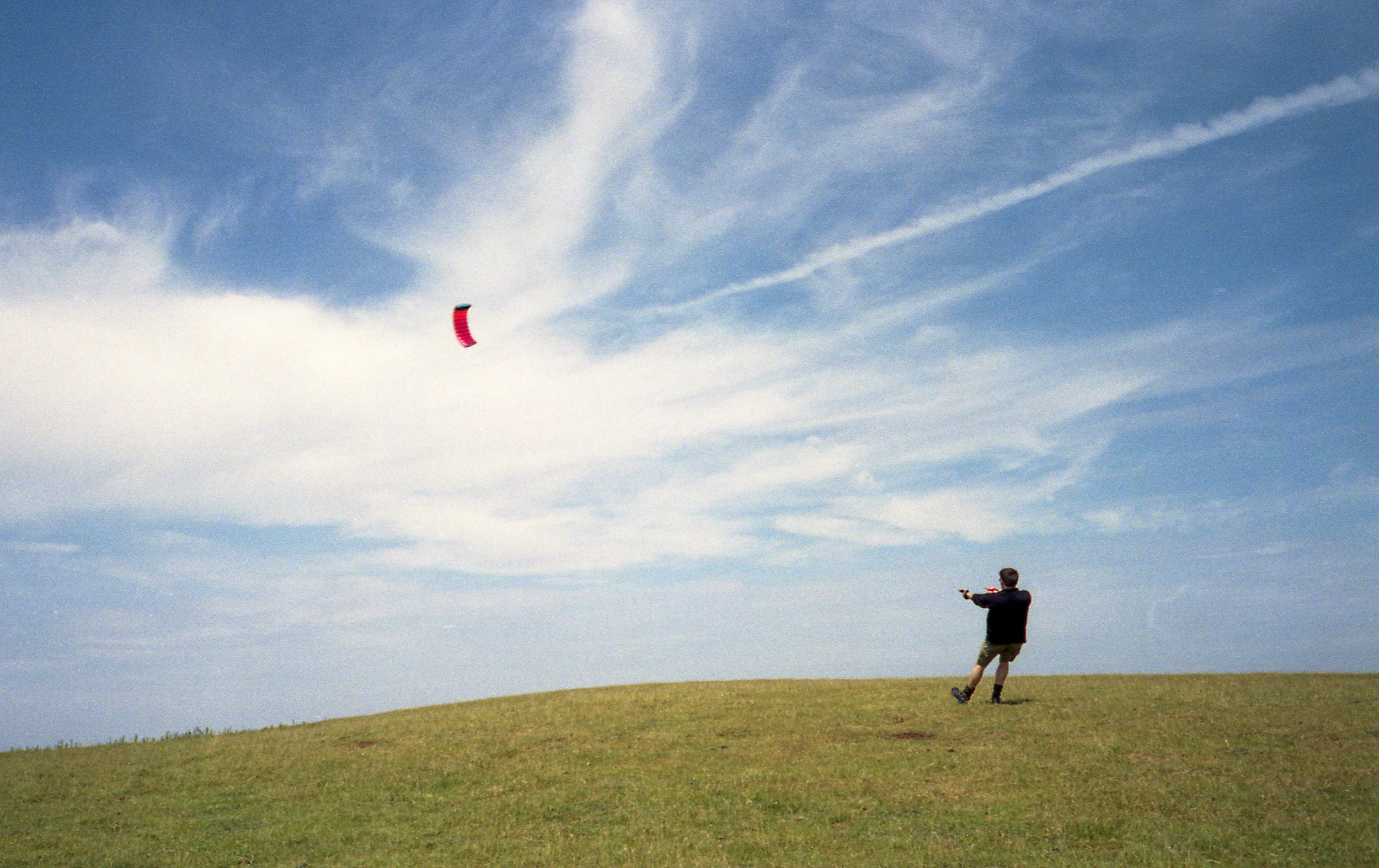 More kite action