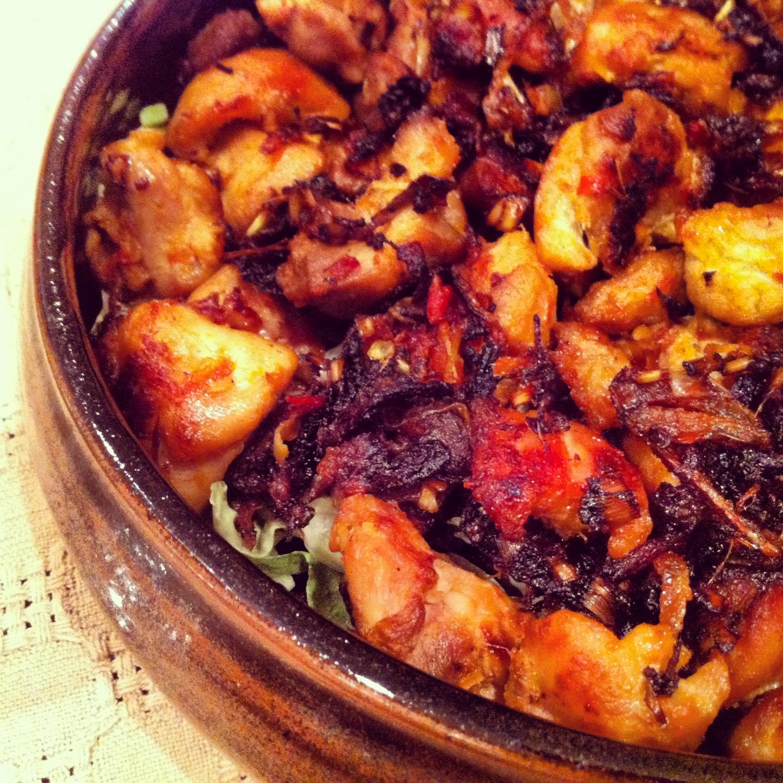 Vietnamese recipe for lemongrass & chilli chicken