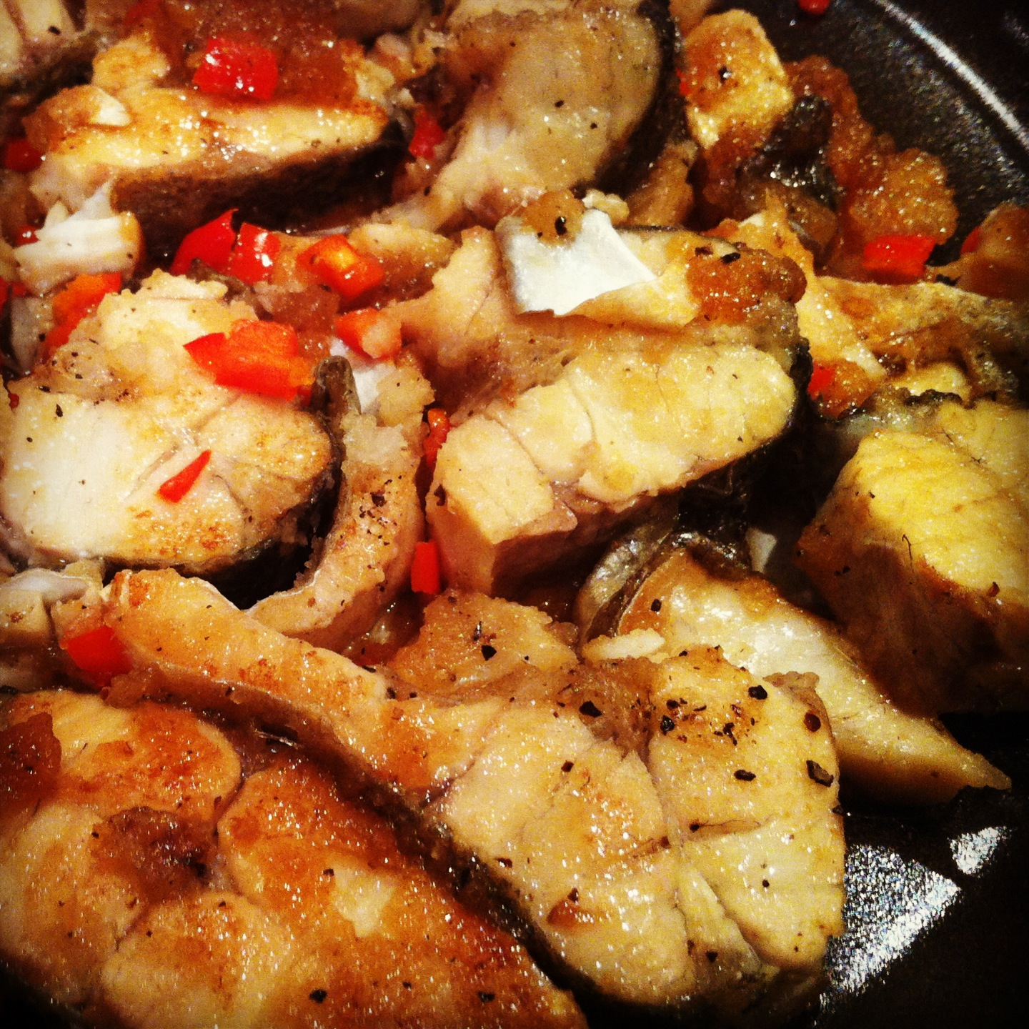 Vietnamese caramelized fish stir fry