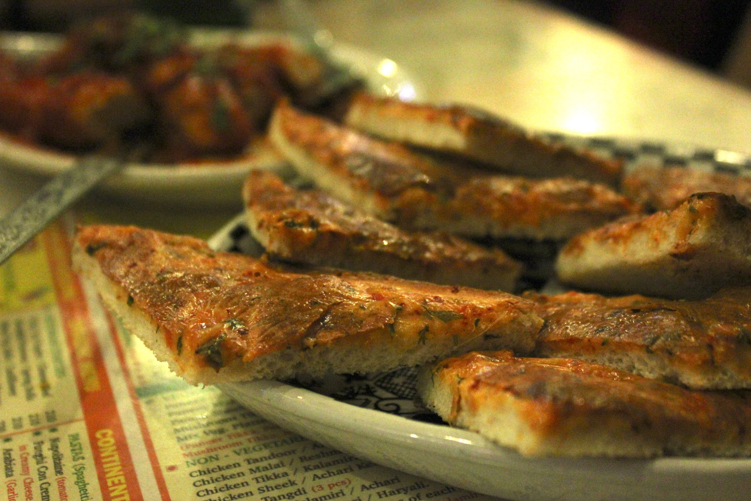 Chilli cheese toast at Cafe Mondegar