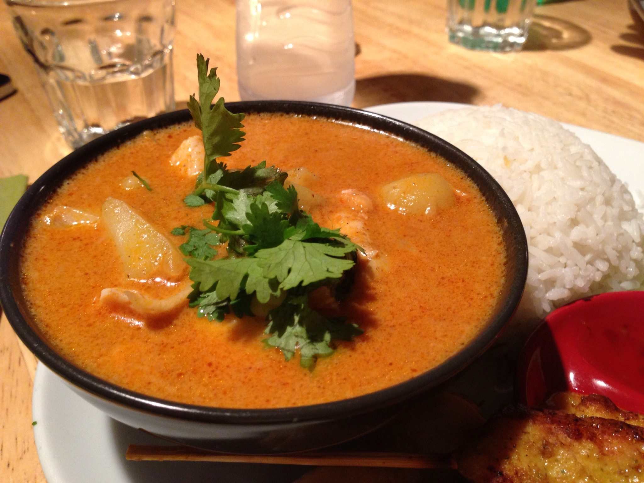 Gaeng massaman curry at CJ's cafe Acton