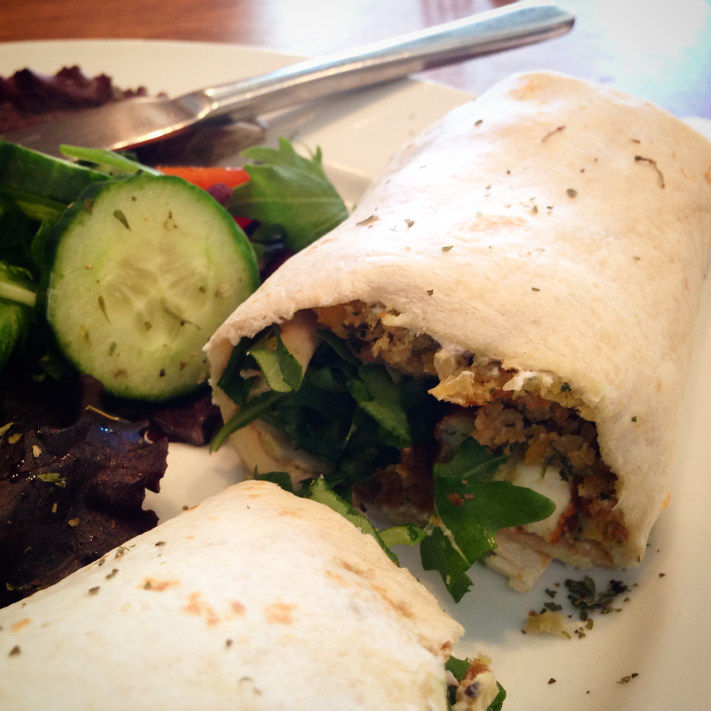 Falafel and halloumi wrap at The Brockley Mess