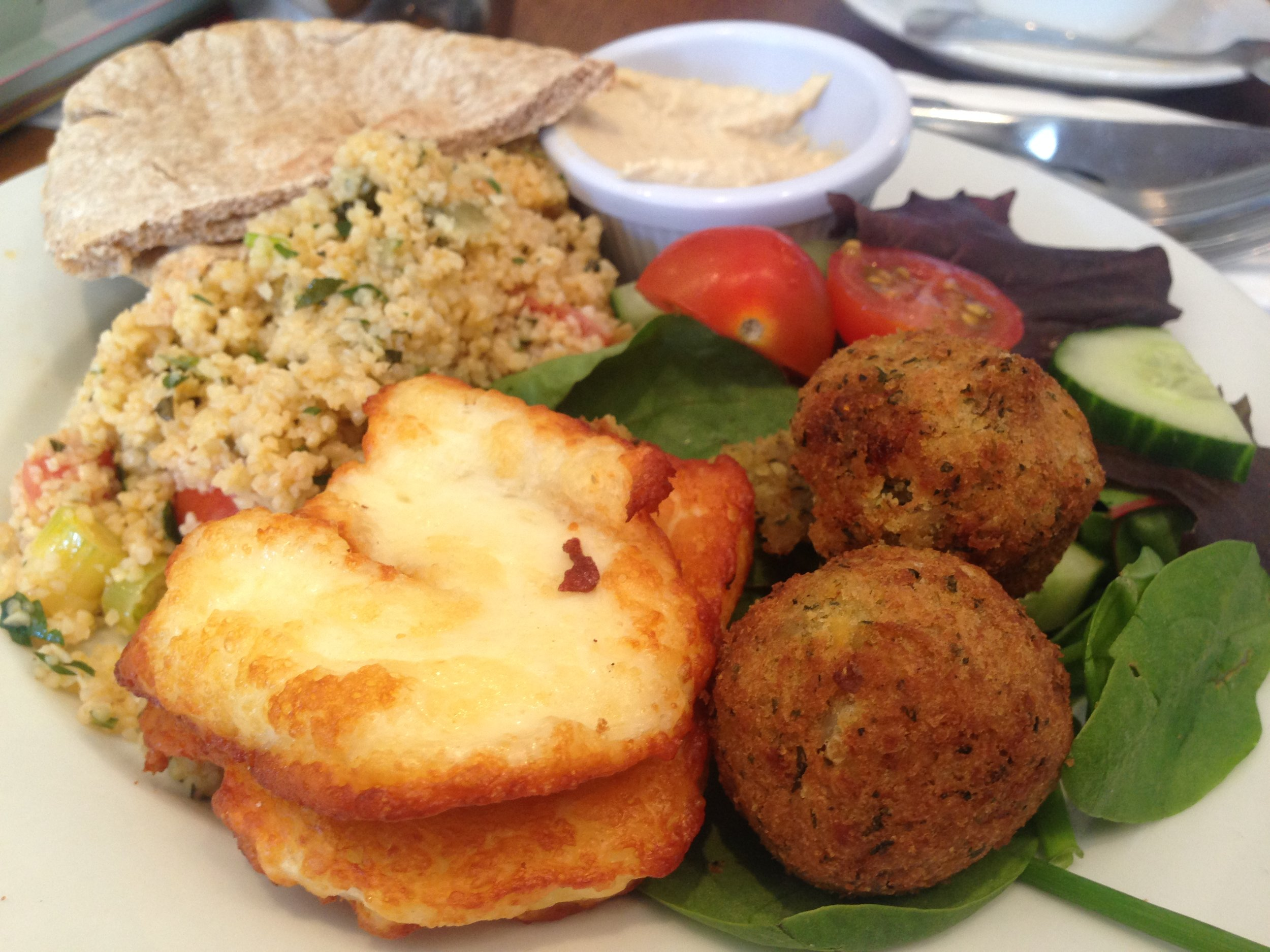Taboulleh salad platter at The Brockley Mess
