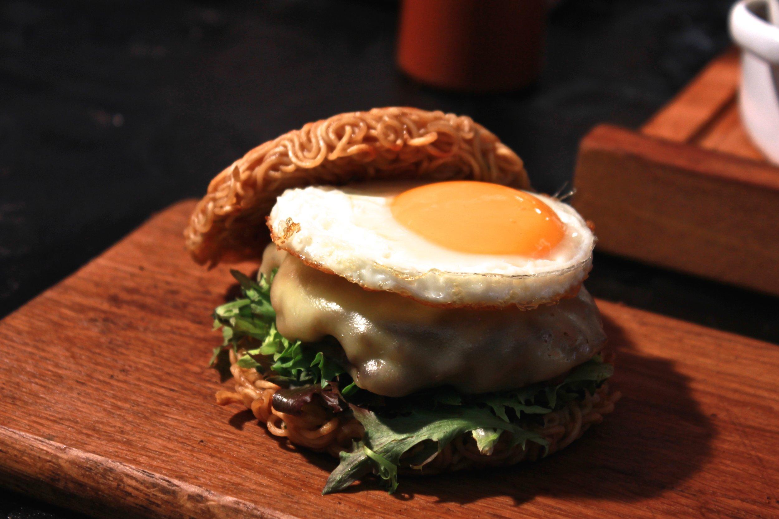 Pimp my Ramen burger at Greenwich Market London