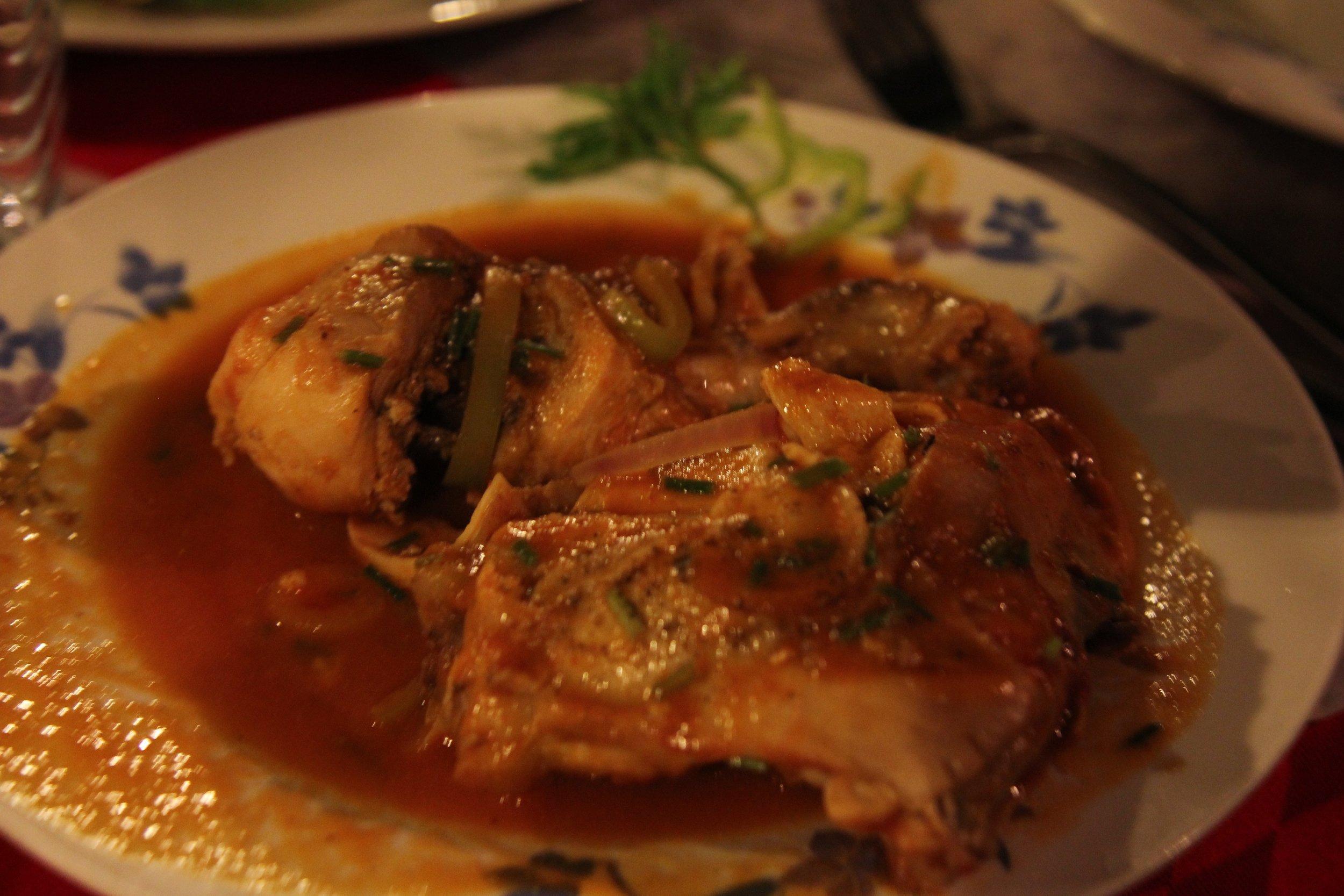food in cuba - dinner at Roy's Terrace in Santiago