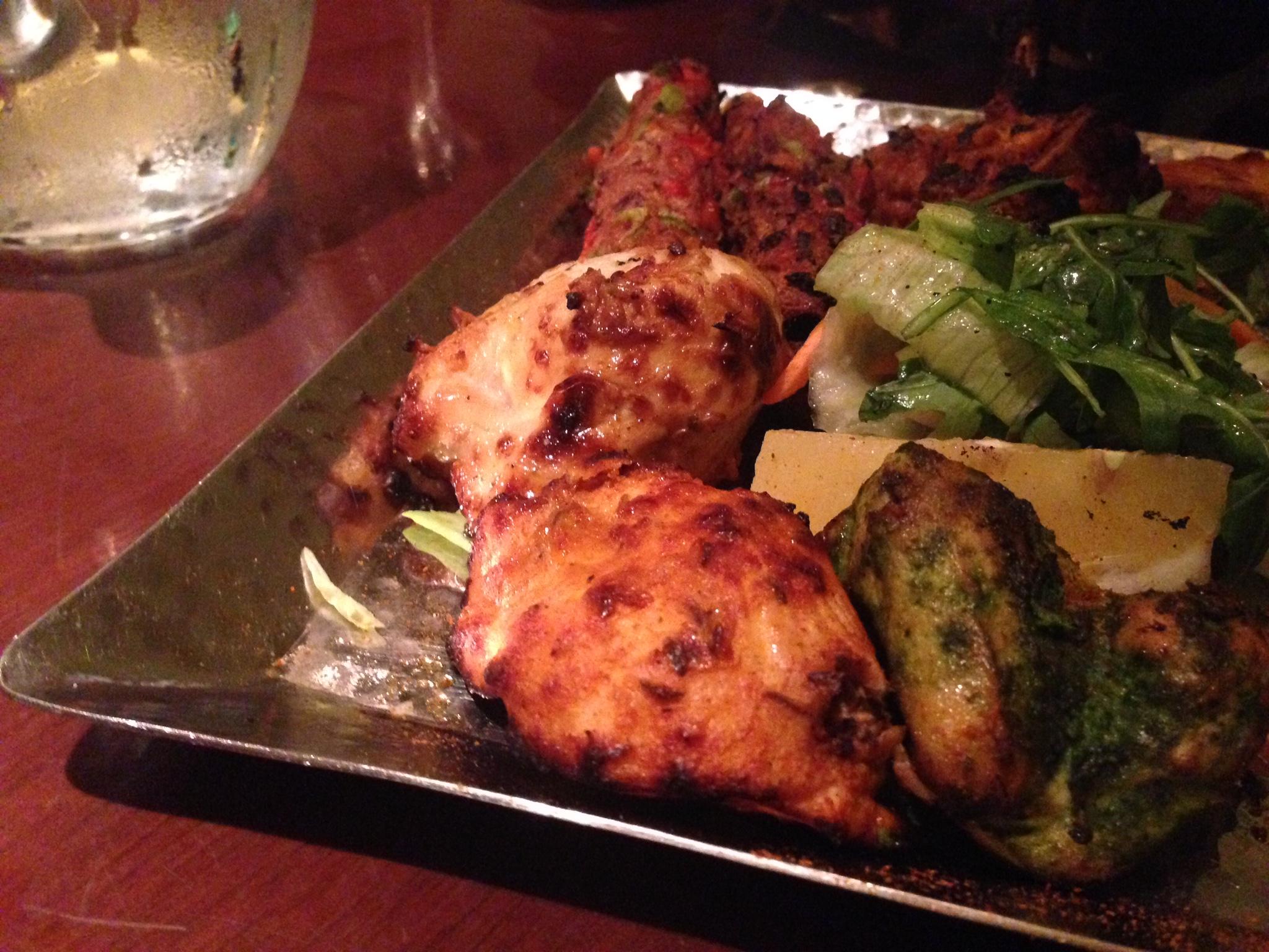 Non vegetarian platter at Potli in London