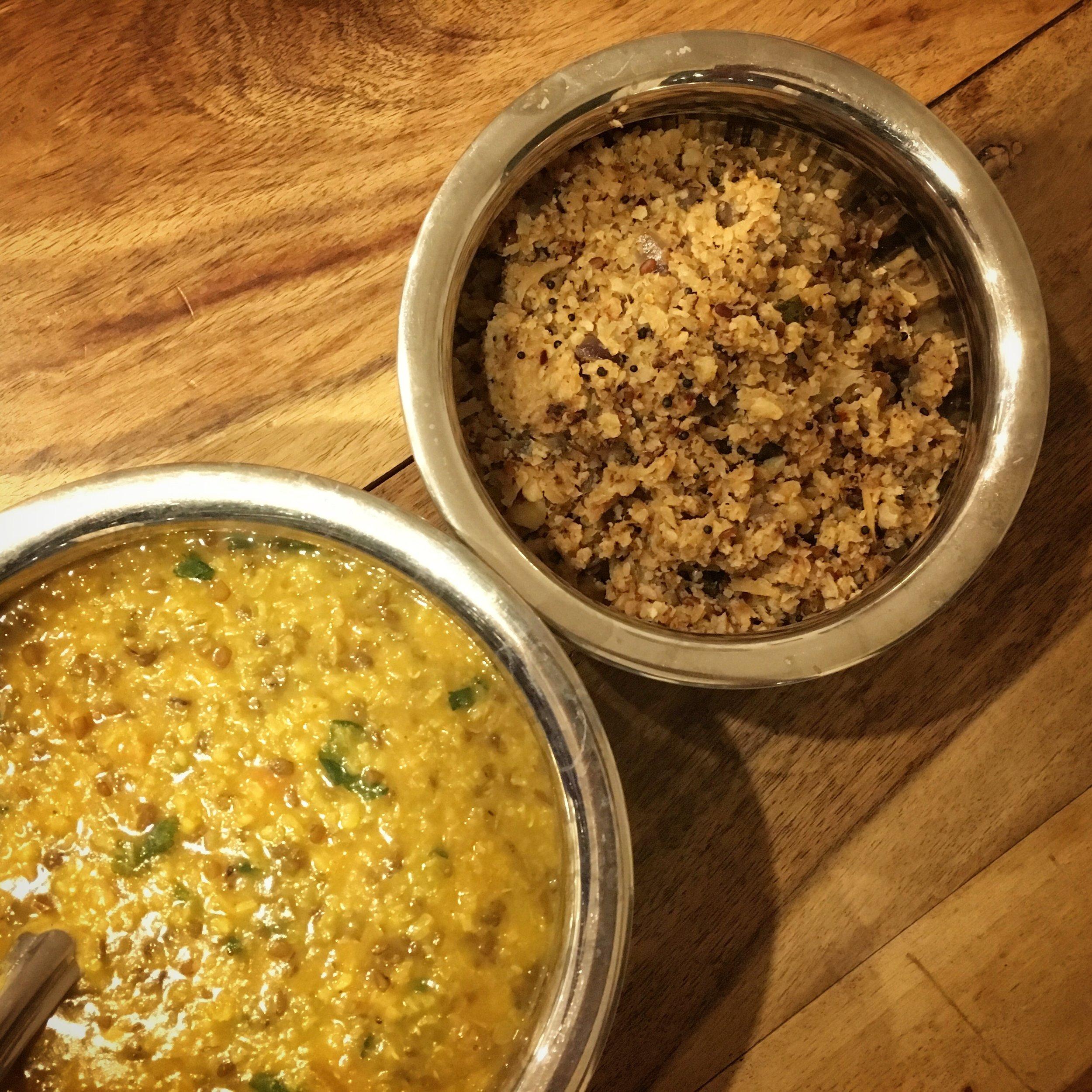 Cauliflower rice substitute recipe
