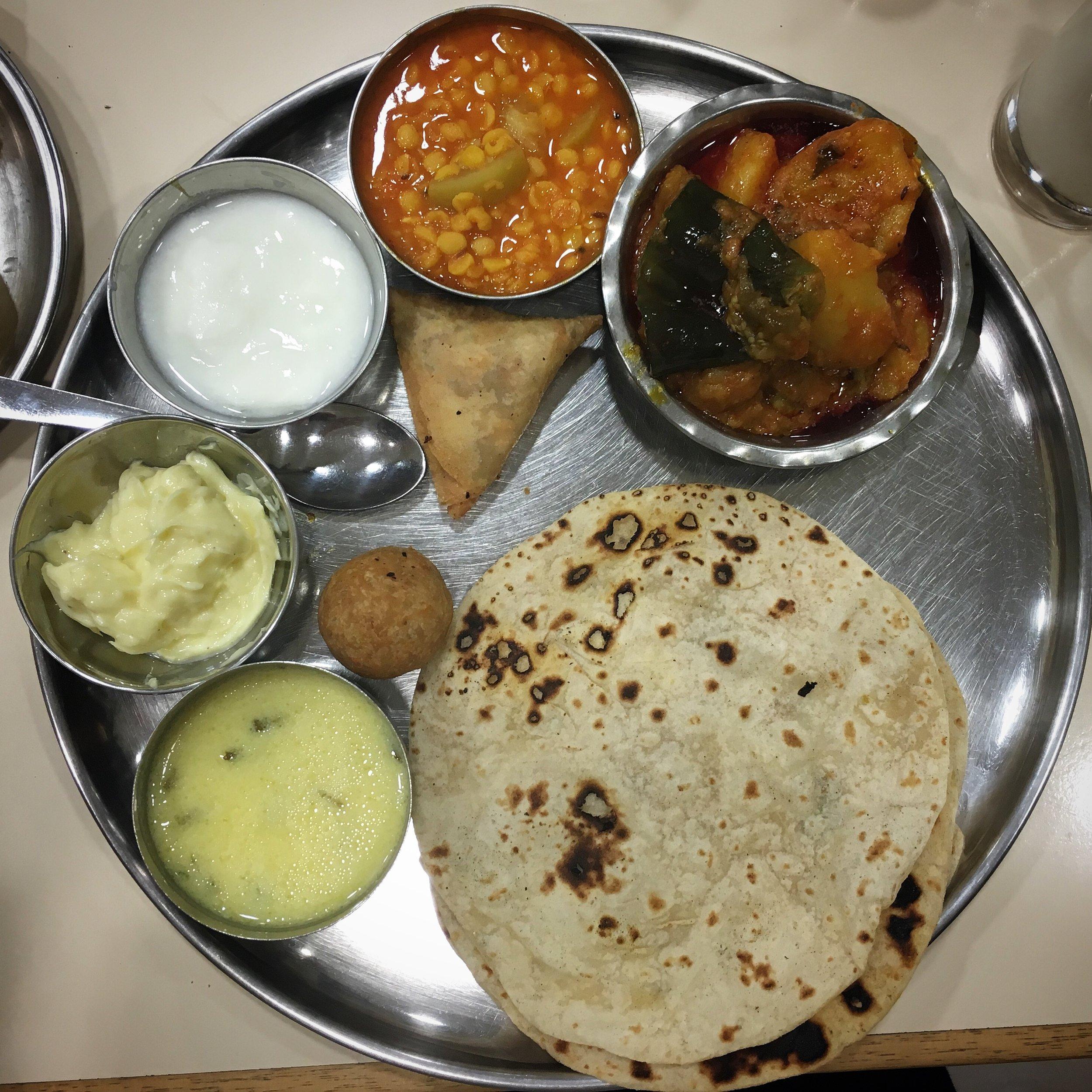 Gujarati thaali at Ashers Wembley