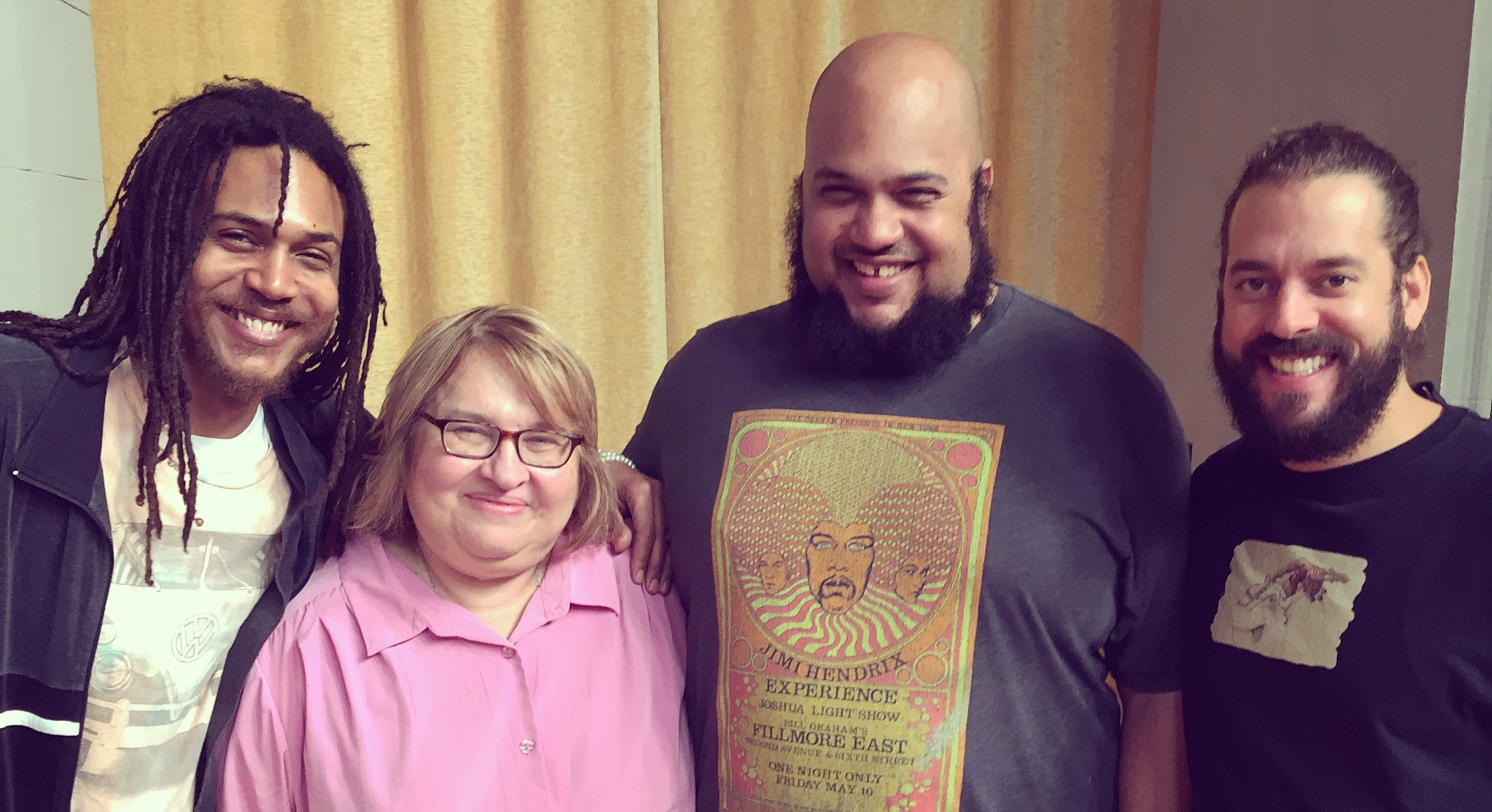 Sharon and the Atman Smith, Ali Smith and Andy Gonzales of the Holistic Life Foundation at their 2016 Caregiver's Retreat at Garrison Institute