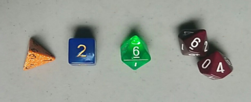 For reference, the results of the dice.