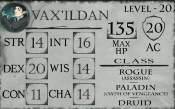 Vox Machina Character Stats Critrolestats 183,997 likes · 5,566 talking about this. vox machina character stats