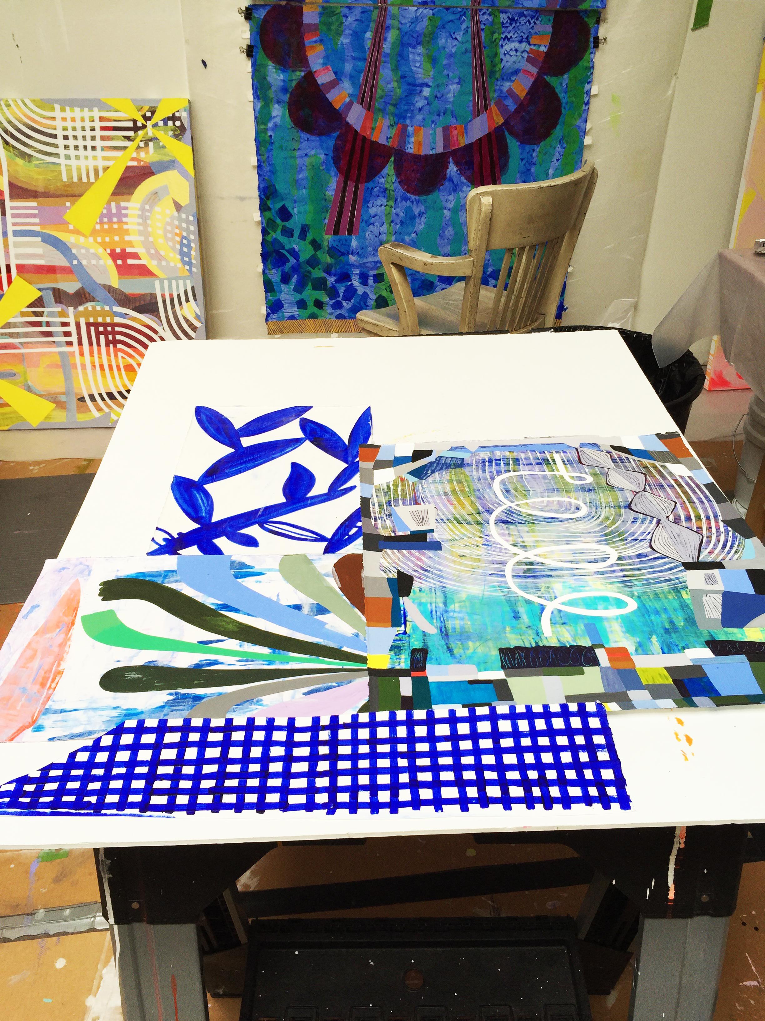 Studio, in progress