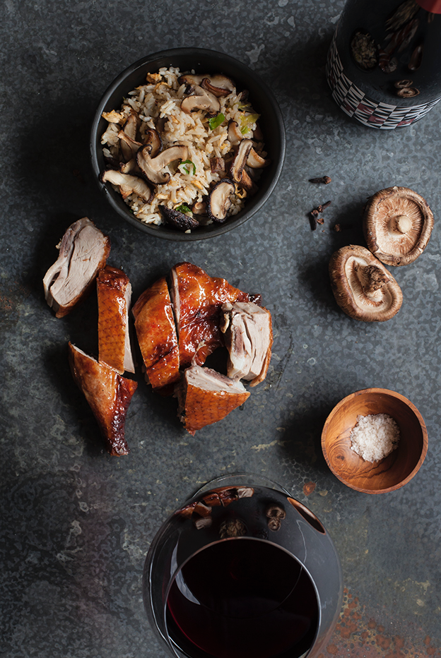Roast Duck with Shiitake Mushrooms