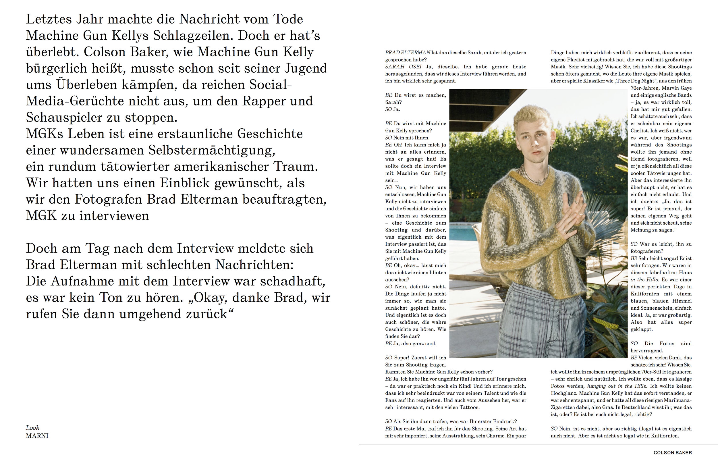 INTERVIEW MAGAZINE DE X BRAD ELTERMAN
