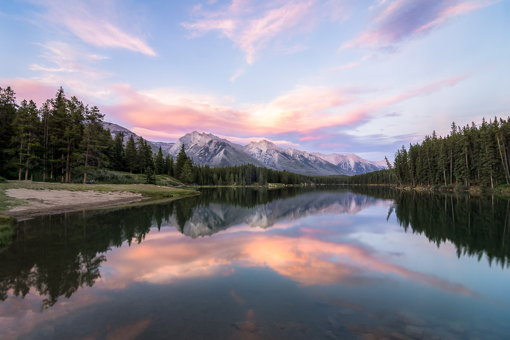Unplanned and unexpected - Johnson Lake Sunset, Banff National Park, Alberta, Canada