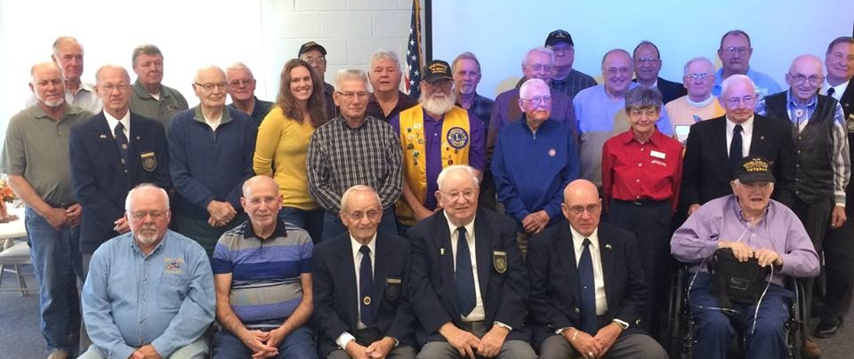 We honored local veterans at our weekly club meeting