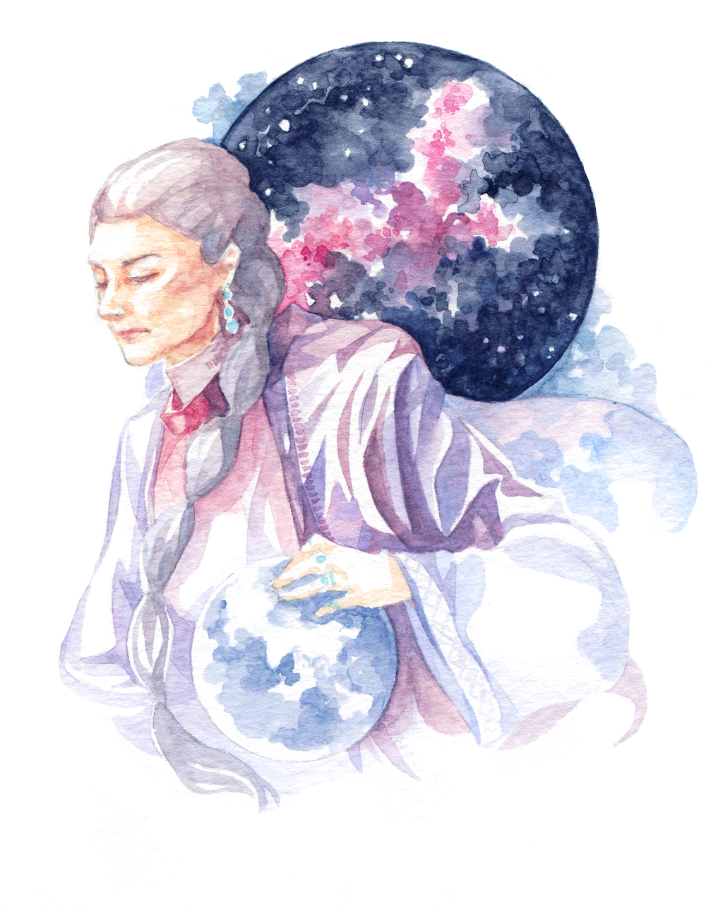 Chrisjen Avasarala | The Expanse | Watercolor Fanart Portrait It's hard to choose a favorite character from the series, but Chrisjen Avasarala is my space mom. Her dialogue in the books is pure gold!