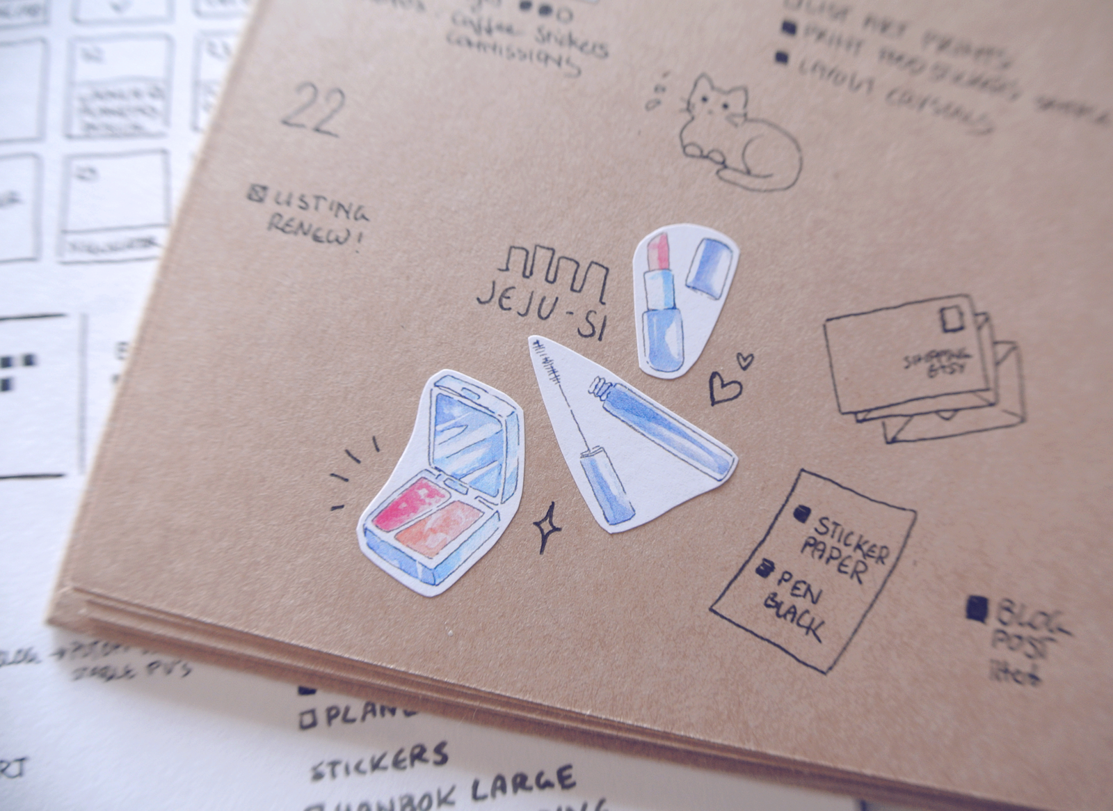 More sticker decorations. These fit well with free time - perfect to replace elaborate to-do lists.