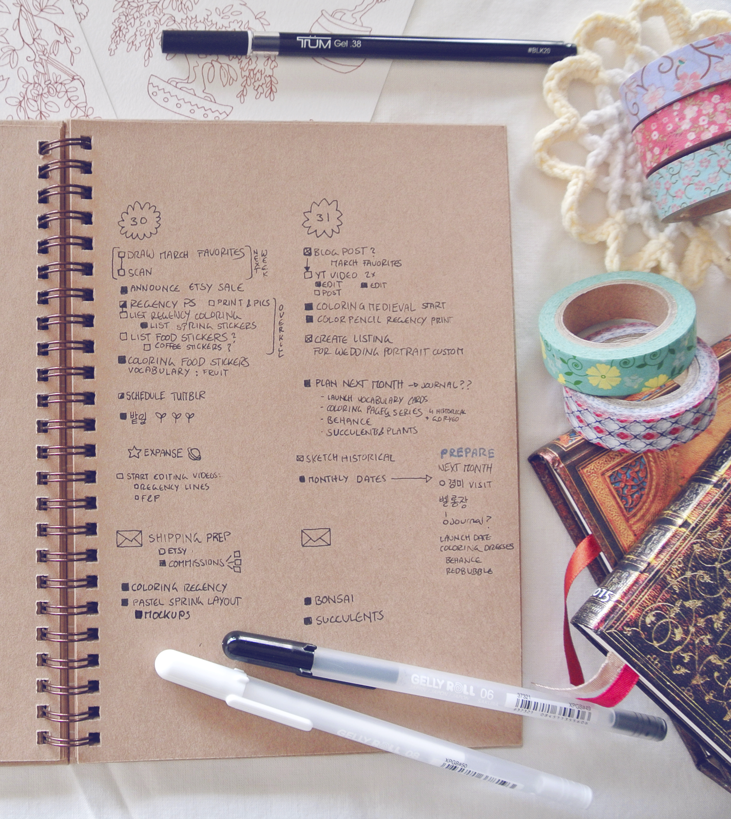 My To-Do lists hurt my head... bullet journaling really helps with being productive and not getting overwhelmed by large tasks!