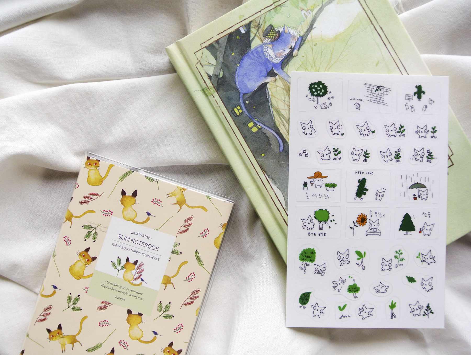 Cat-themed stationery haul.