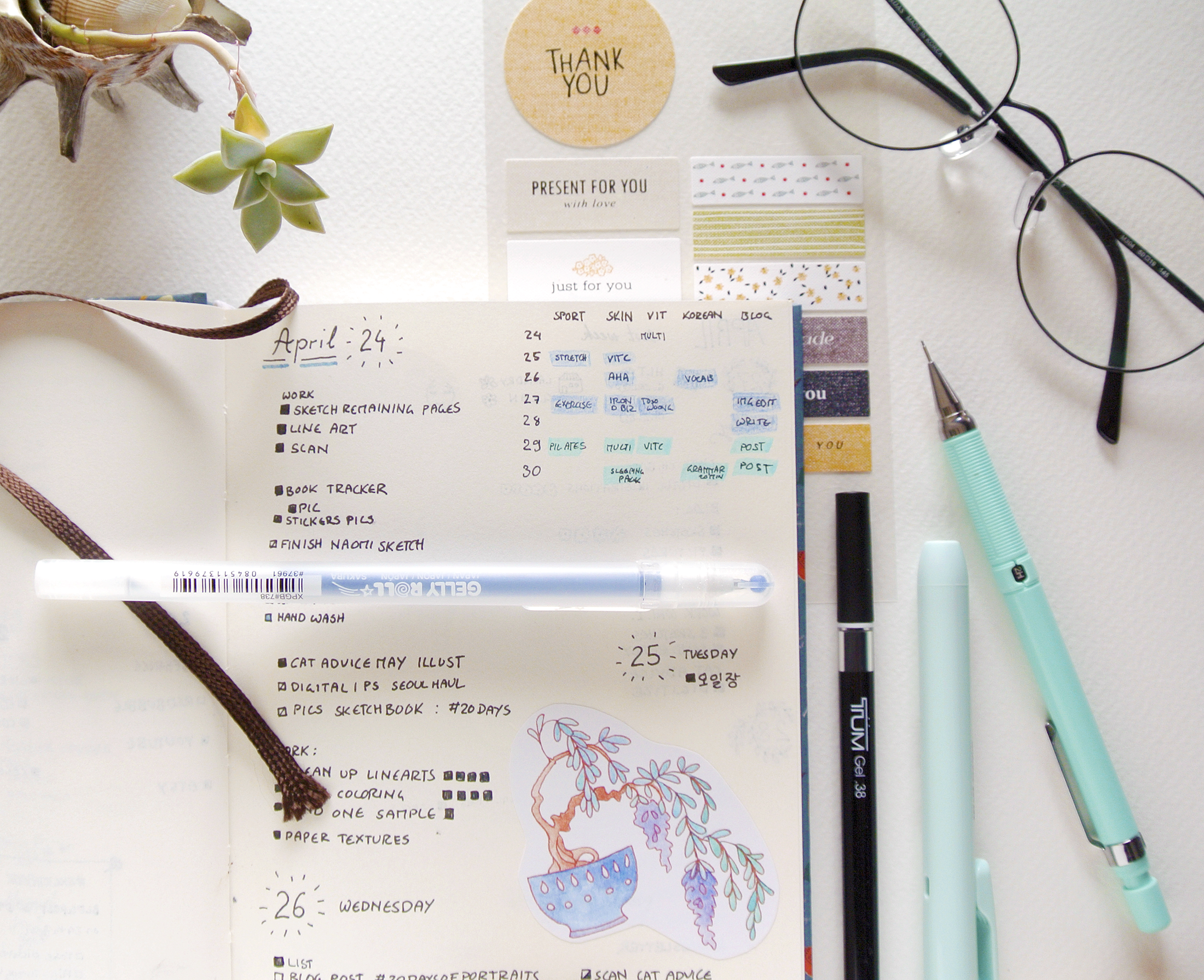 Simple blue bullet journal layout. I try to keep my weeklies and daily layouts functional, minimal but pretty.