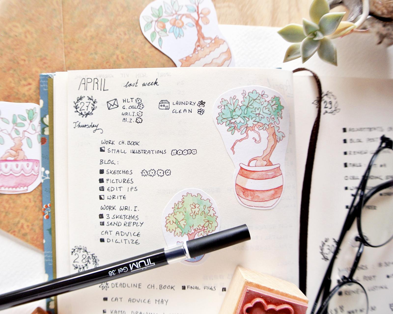 Flowery little task lists... Bullet Journal for spring days!