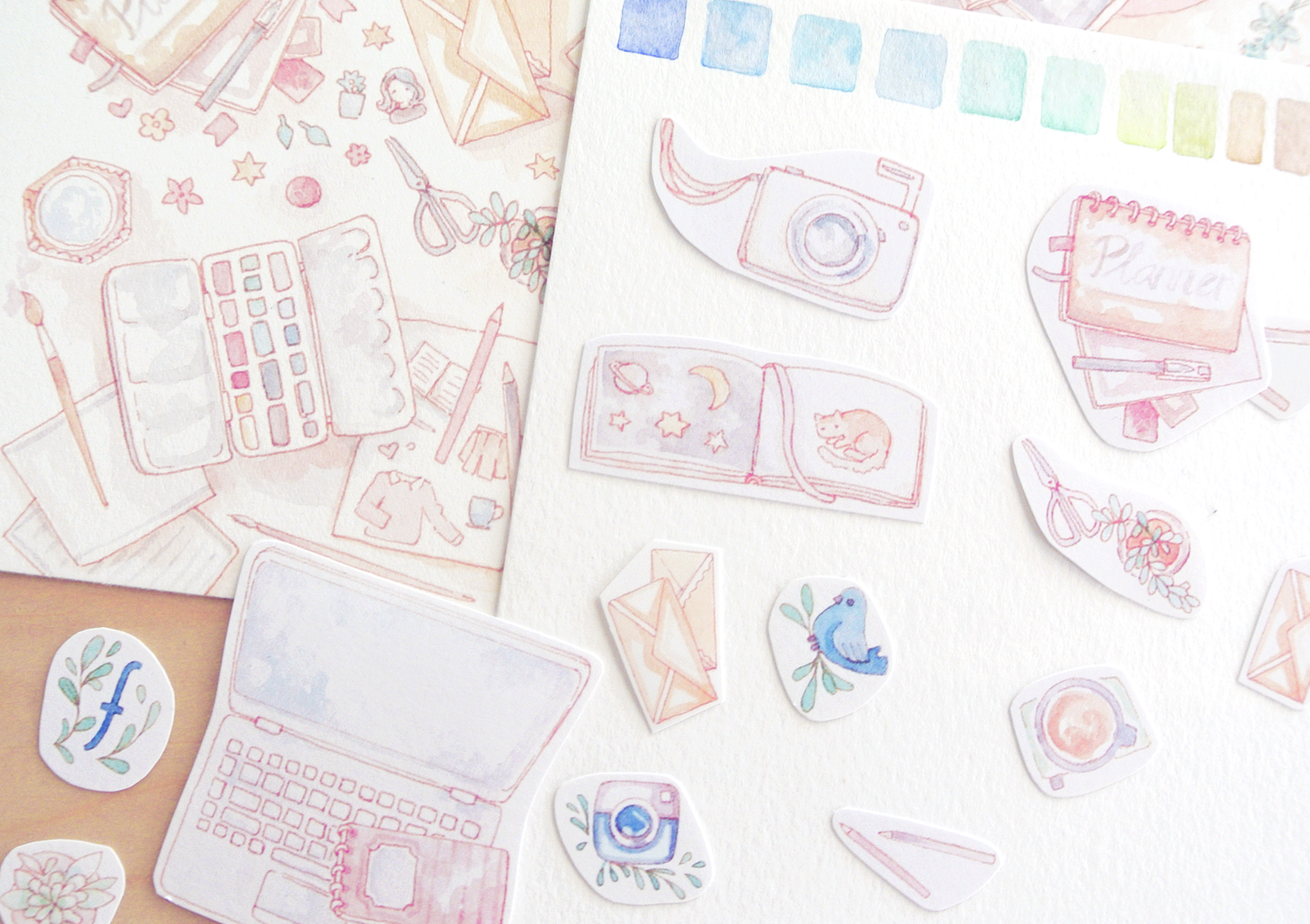 Creative Business, Etsy shop and blogging recap for May - evydraws.