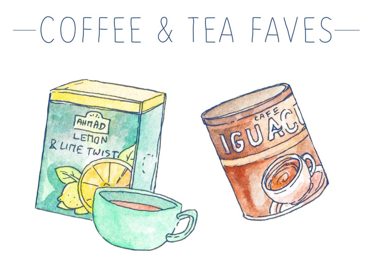 Delicious, luxurious tea and coffee favorites... Who thought that instant coffee couldn't taste great?  My favorites are illustrated and up on the blog!