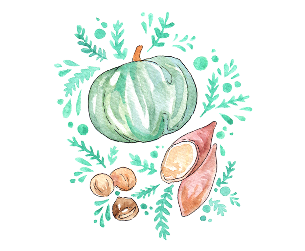 Korean fall foods: Sweet potatoes, roasted chestnuts, and sweet pumpkin. Delicious and healthy, these are some of my staple food during the colder seasons here in South Korea - and as a Vegan, I often buy the roasted chestnuts on markets as an alternative to other street foods.