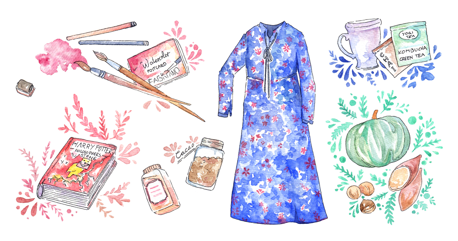 My favorites for a creative and cozy life during fall. It's getting colder in Korea, so I cuddle up with a sketchbook and pumpkin spice coffee and just focus on painting. Fall is perfect to get back in touch with your creativity, look back at the goals you set for yourself at the beginning of the year, and reflect on (or catch up) with those projects. Illustrations, Creative Life of a Freelance Artist: Fall Favorites are up on the blog!
