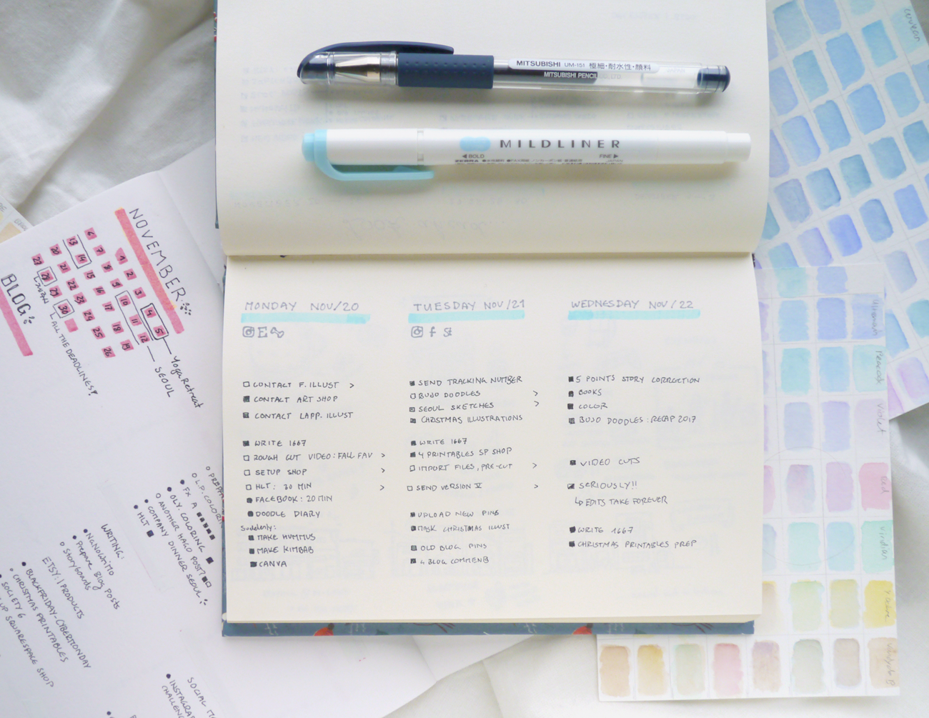 My bullet journal, forever switching back and forth between minimalism and creative doodles. Join me as I discover ways to plan and be more productive!