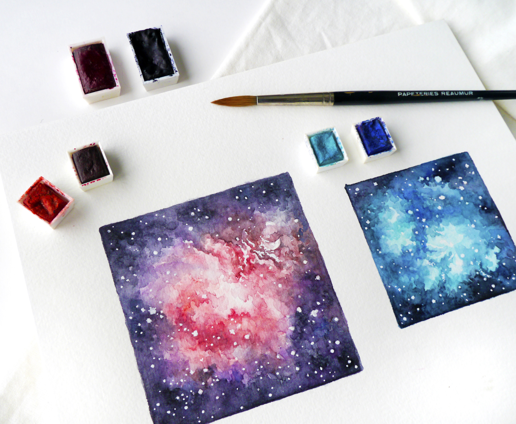 Printables & lots of creative ideas for last-minute Valentine's Day gifts! Doesn't matter if you're an artist or not, little hand-made gifts and cards are easy to make and all the more romantic! I've got some tips and resources for you, no matter if you want to try your hand at brush calligraphy, a simple watercolor galaxy pattern card, or Valentine's chocolates. Let's get artsy! If you're really not creative (or in a hurry!) I've got romantic printable stationery for you, all hand-drawn with love. And you can use my free printable gift tags to decorate your Valentine's Day gifts.