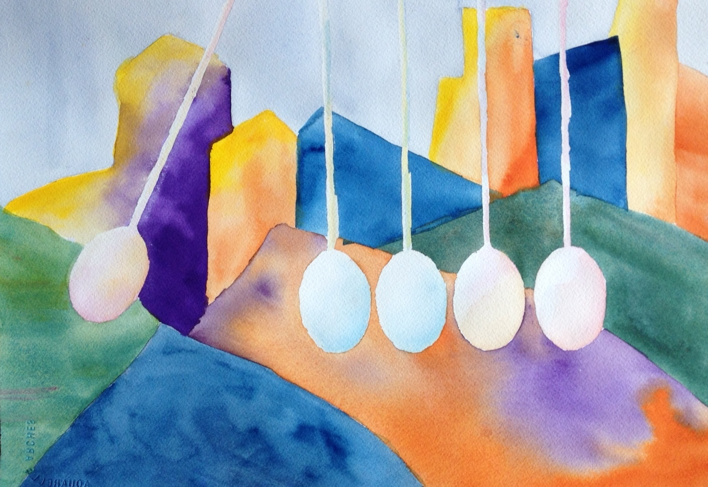 "Sibling Eggs in the City | 16""x 20"" 