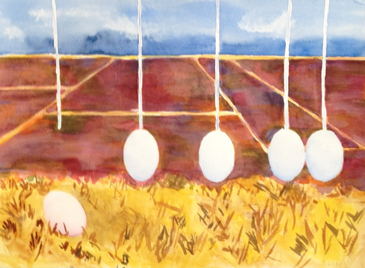 "Sibling Eggs in the Fields | 11""x 14"" 