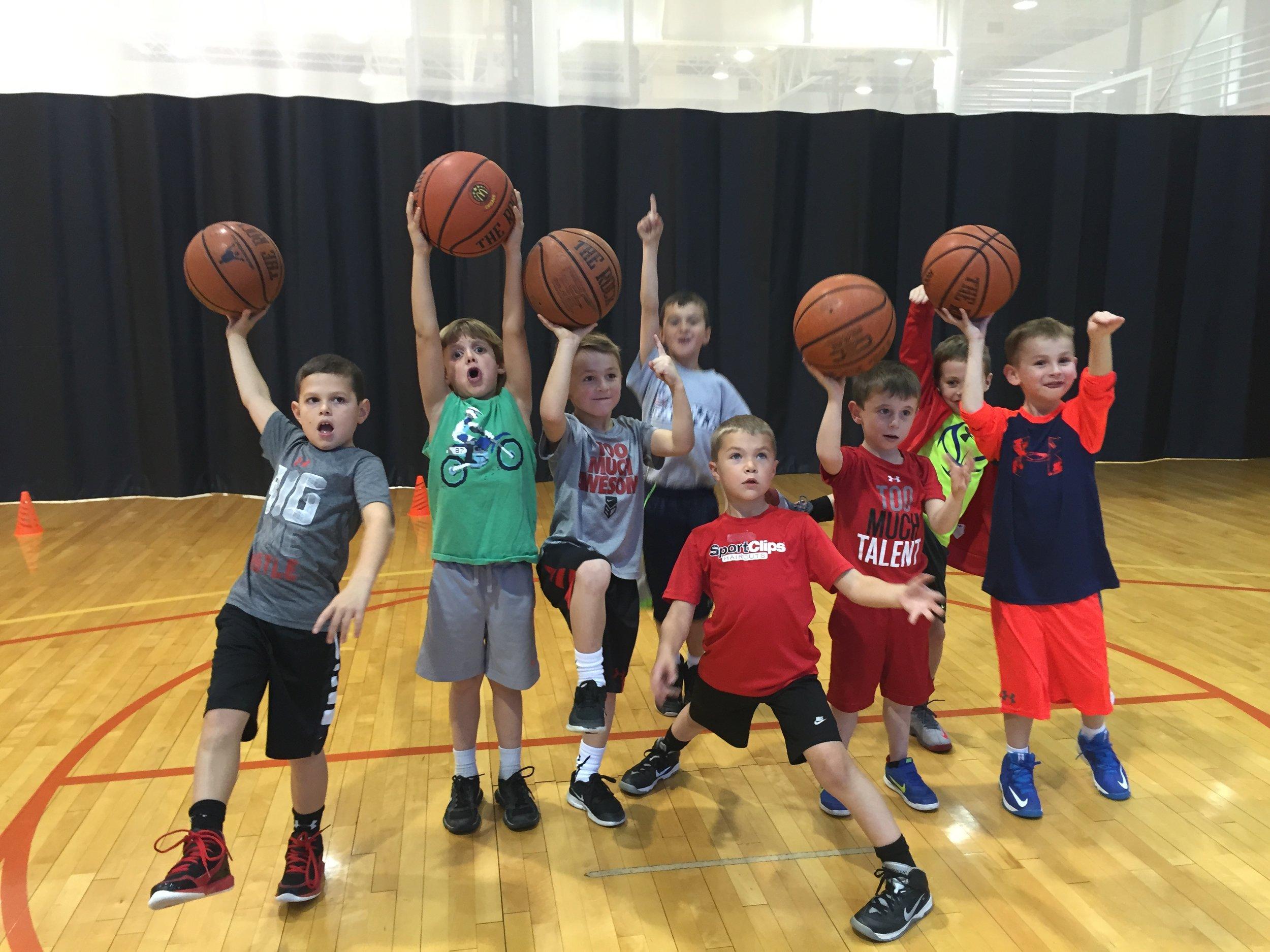 Little Dribblers 1st Grade Boys Group Fun.jpg