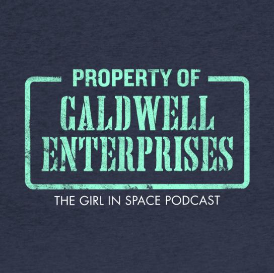 Property of Caldwell Enterprises - aqua ink