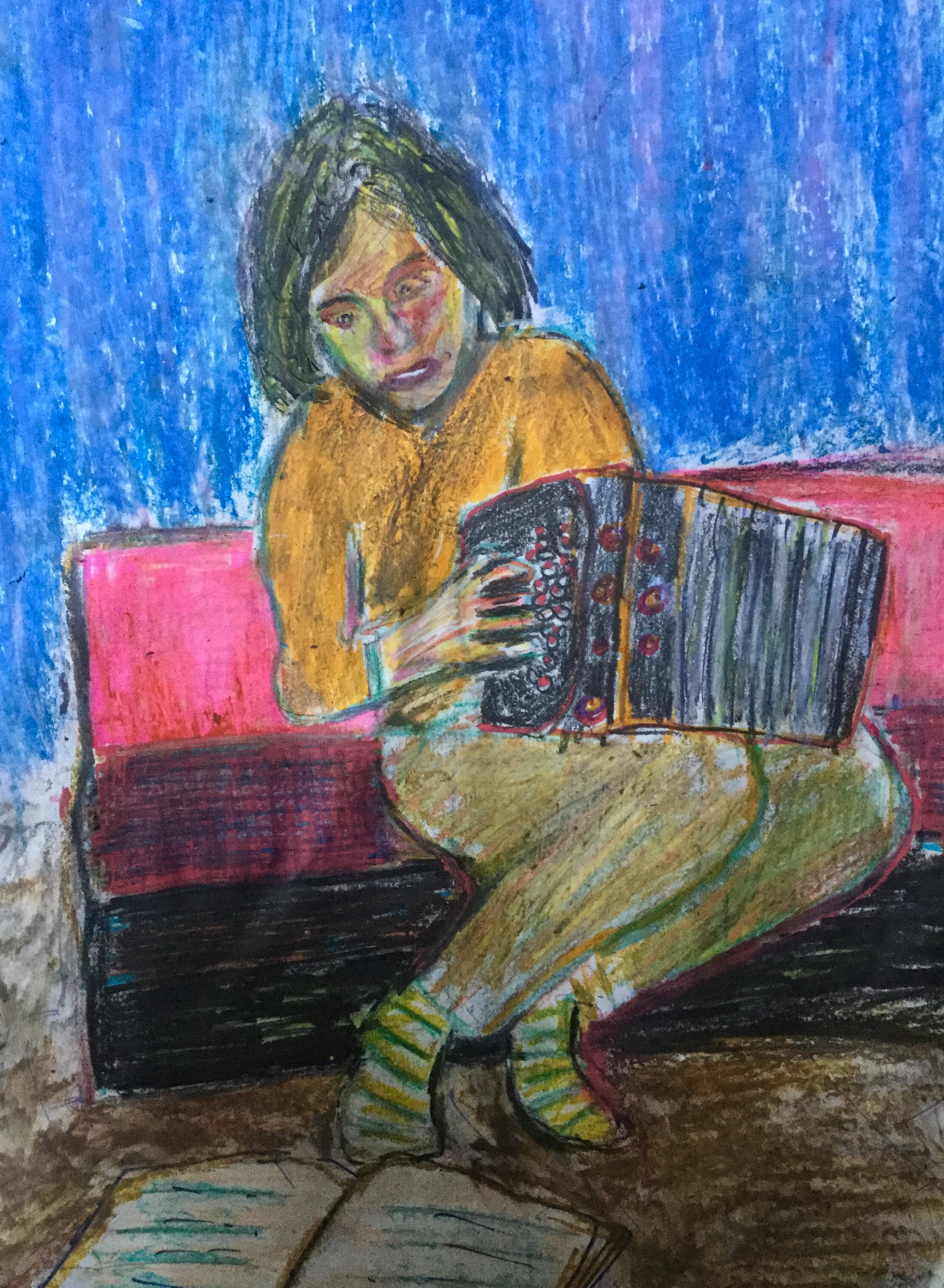 A Woman at Her Accordian