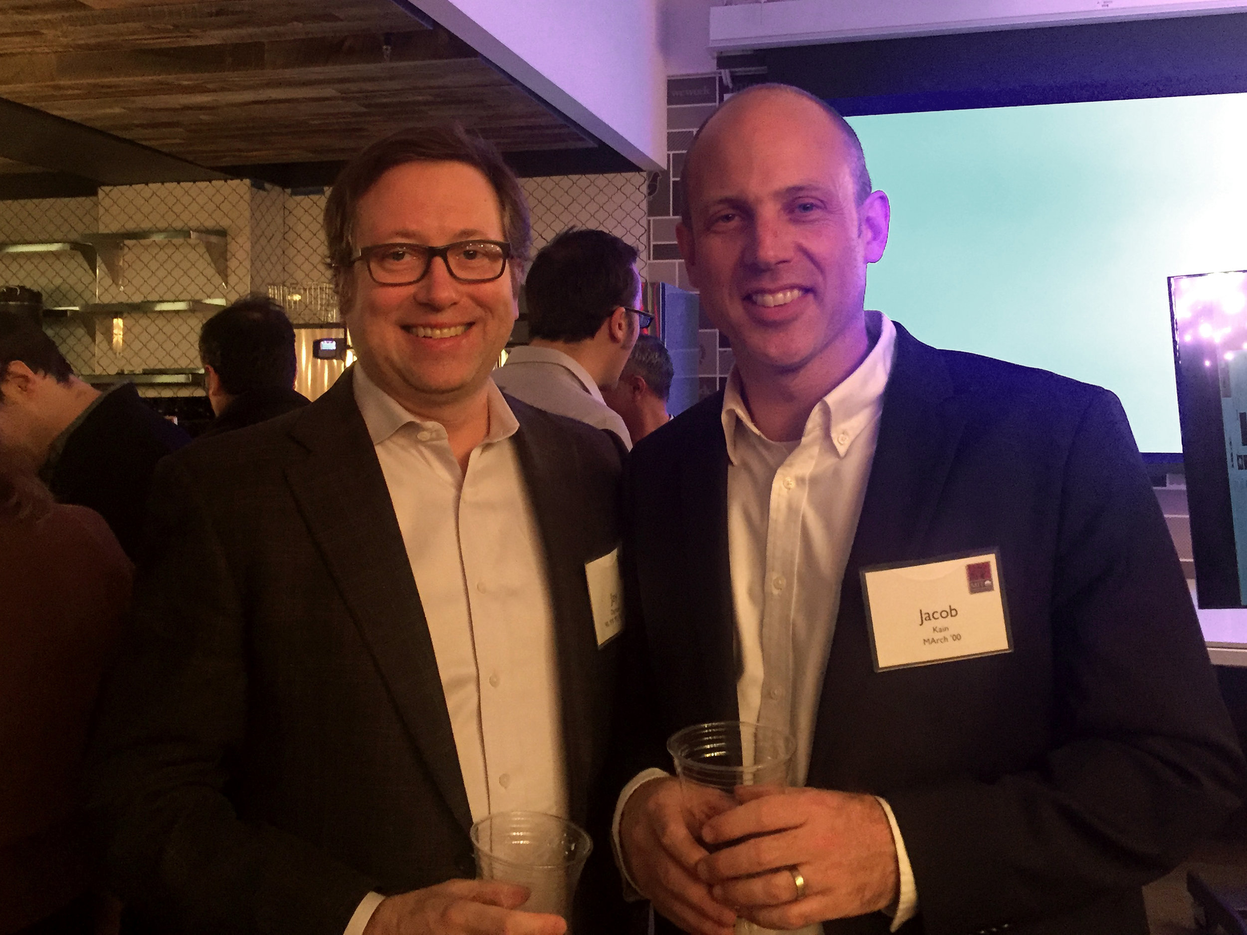 Jay Damask '90 President of the MIT Club of New York and Jacob Kain MArch '00, President of MITArchA.