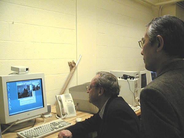 Mr. Masanori Nagashima and former Dean Bill Mitchell at MIT. Image: Massachusetts Institute of Technology.