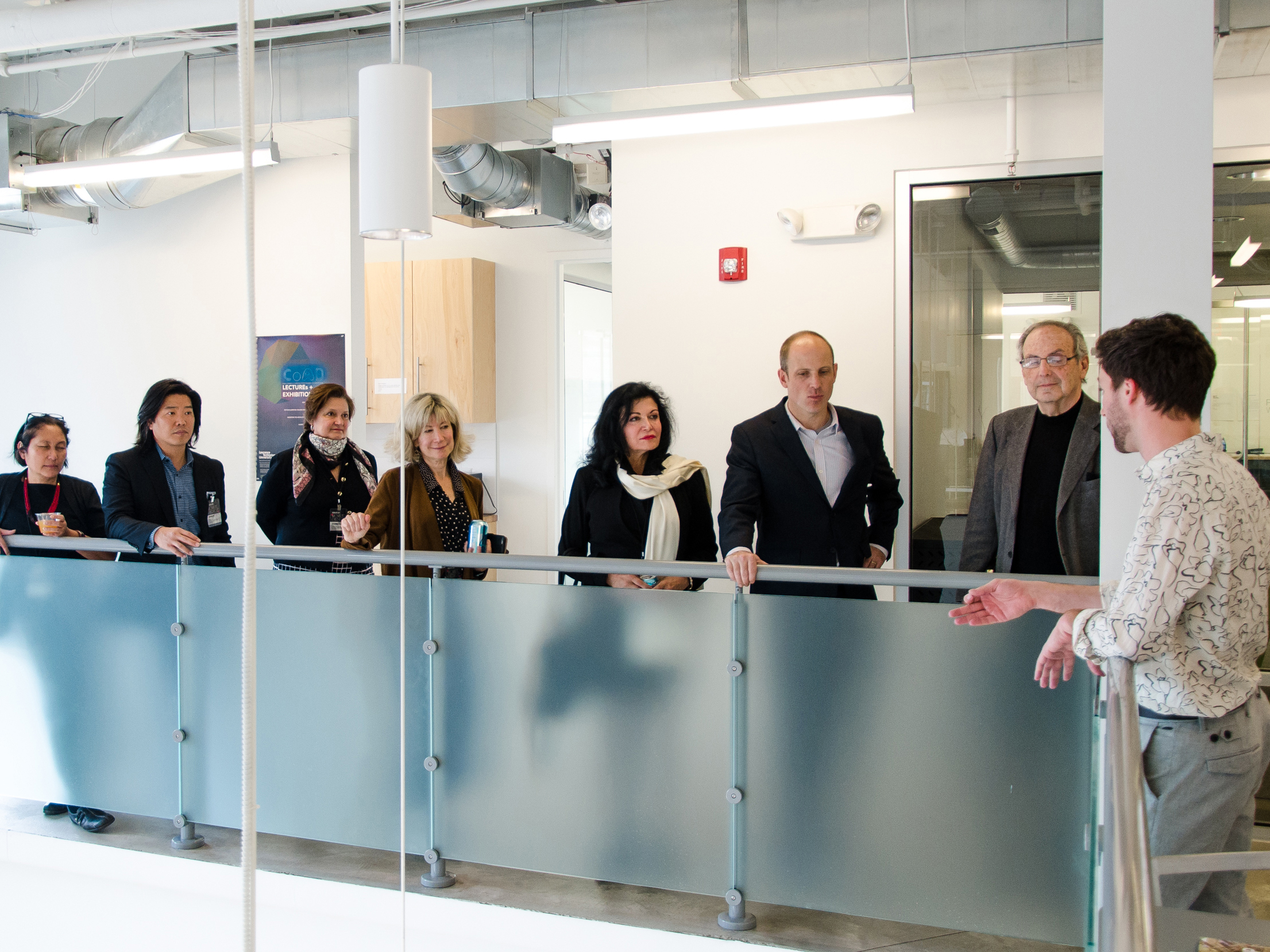 Course IV Alumni touring the Detroit Center for Design and Technology as part of MITArchA's recent ACSA event.