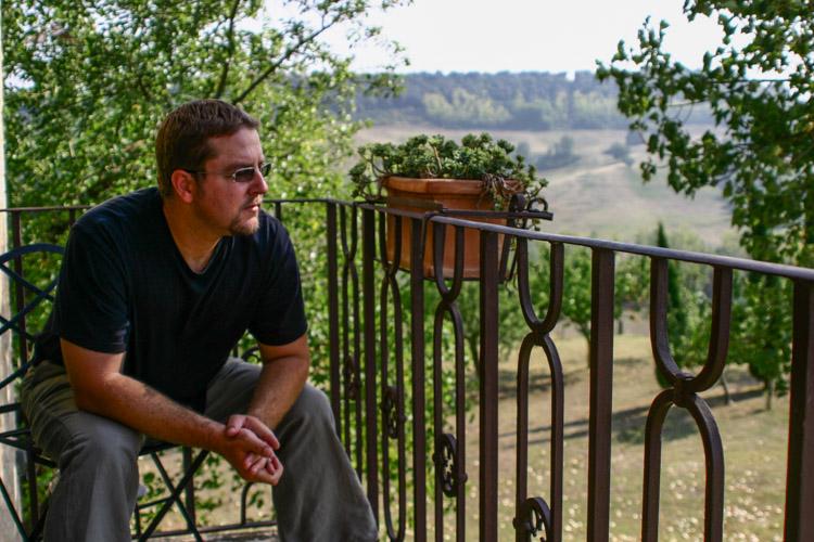 Enjoying the Tuscan view