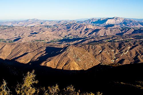 El Cajon Mountain from Sycuan Peak
