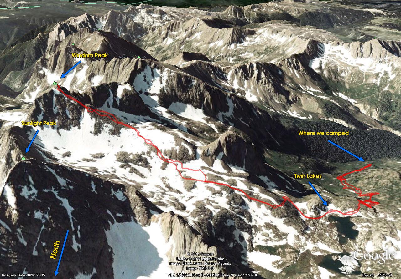 Windom Peak Trail Map