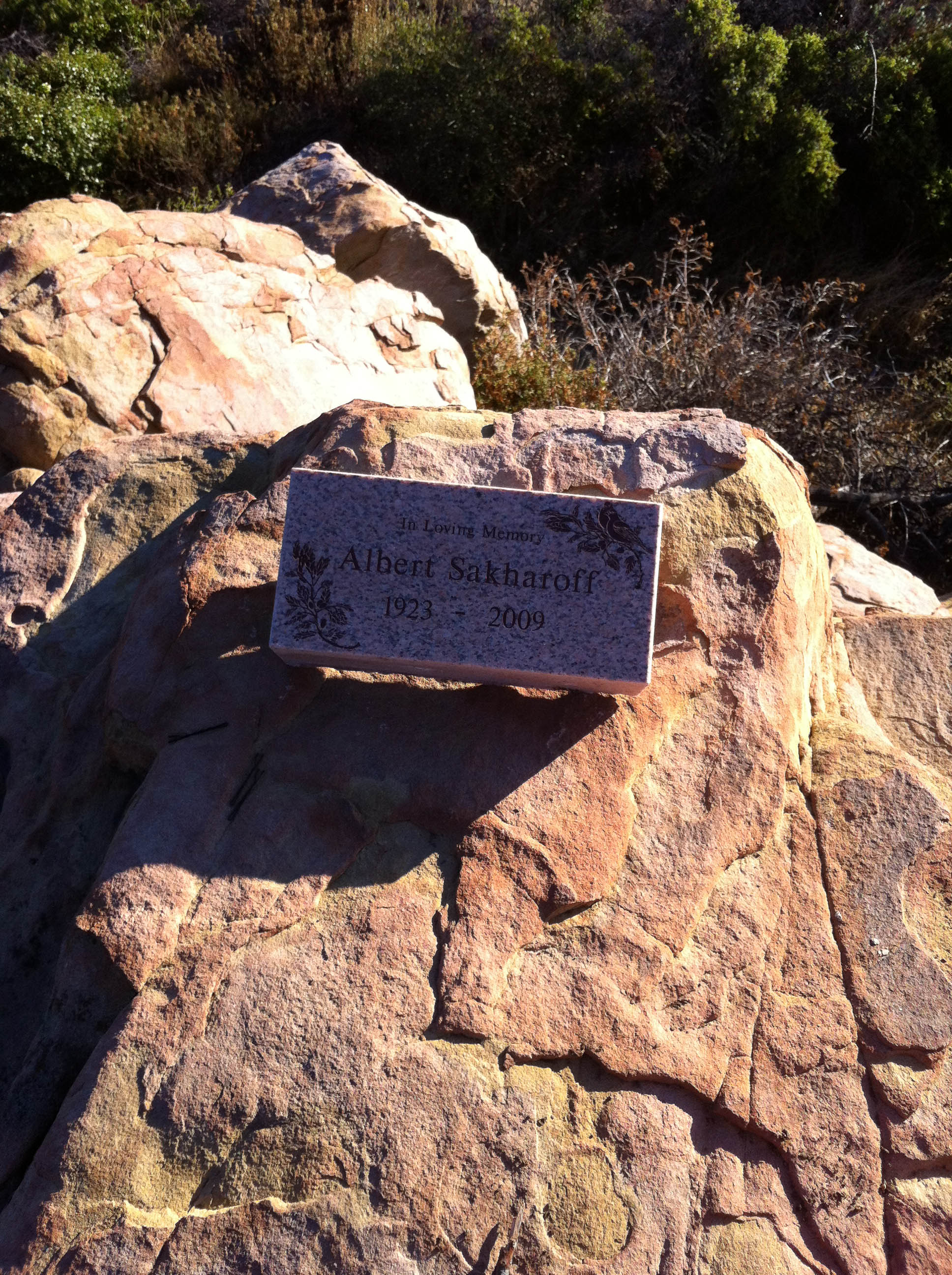 Memorial at the top of Montecito Peak