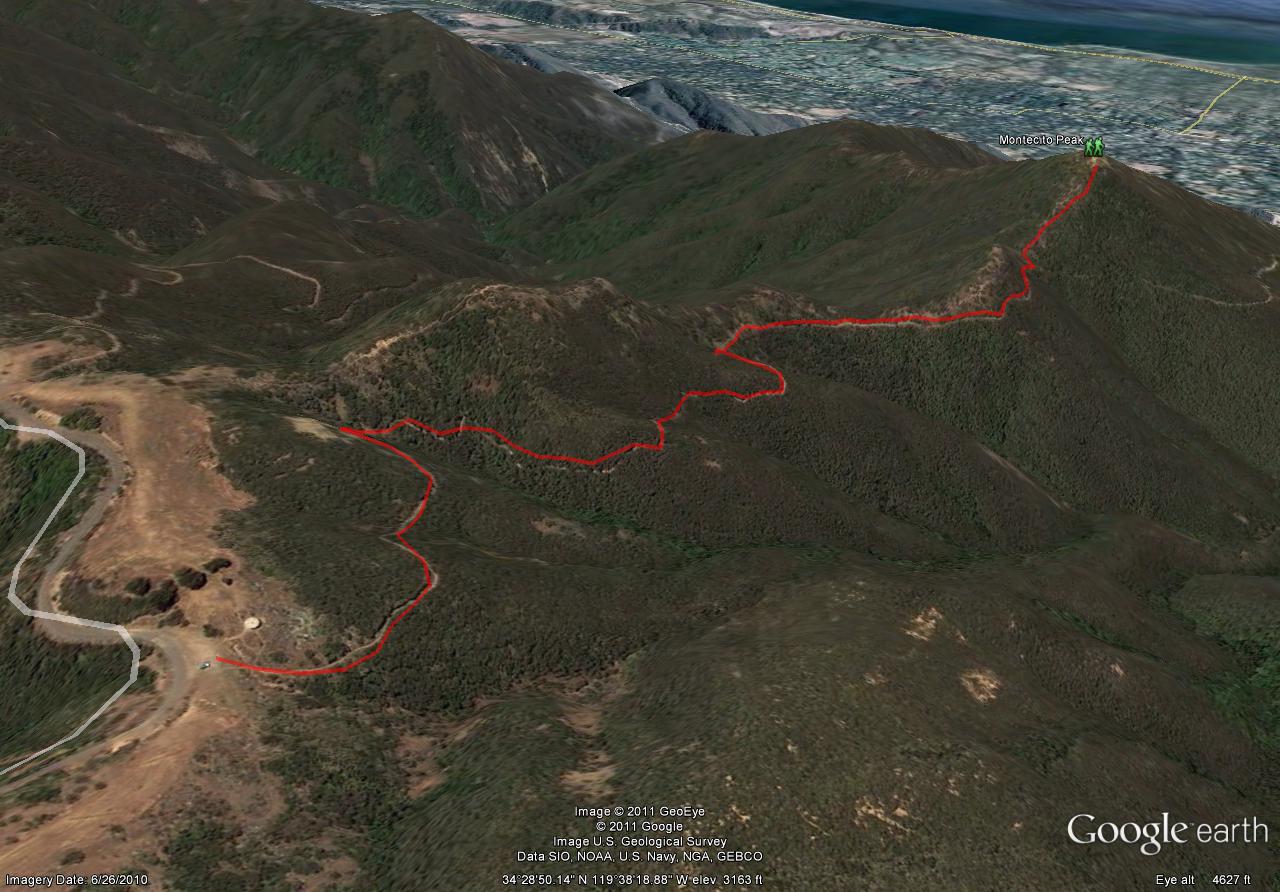 Montecito Peak Trail Map
